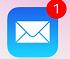 メールのアイコンバッジ